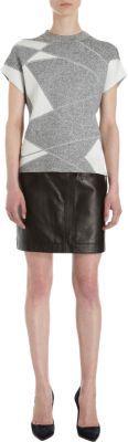 Helmut Lang Patchwork Short Sleeve Pullover