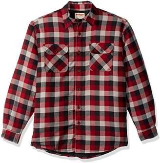Wrangler Authentics Men's Long Sleeve Sherpa Lined Flannel Shirt Jacket