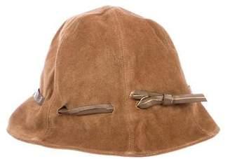 Max Mara Suede Bucket Hat