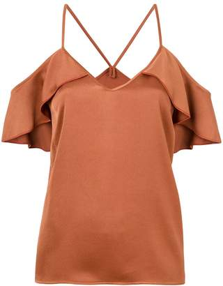 Pinko dropped shoulders frill trim blouse