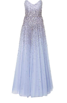 Jenny Packham Marielle Embellished Tulle Gown
