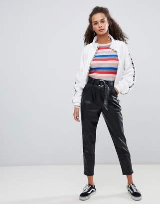 Bershka faux leather pants