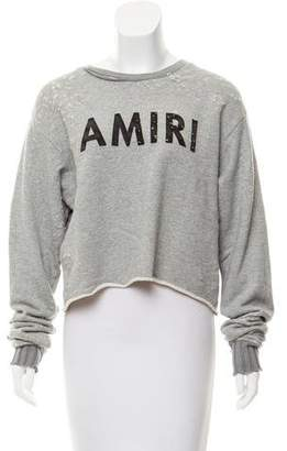 Amiri Distressed Cropped Sweatshirt w/ Tags
