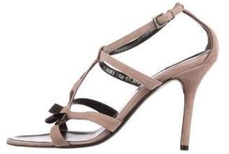 Valentino Suede Caged Sandals
