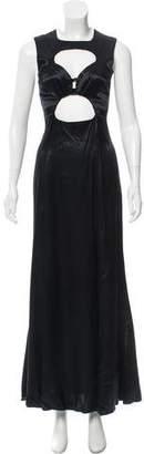 Reformation Cutout Satin Dress w/ Tags