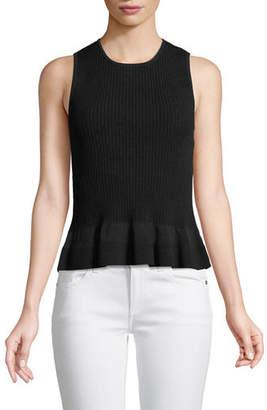 Diane von Furstenberg Sleeveless Knit Peplum Top