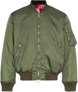Alexander McQueen green bomber jacket