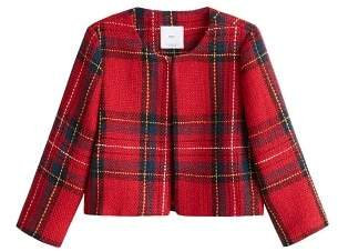 MANGO Plaid tweed jacket