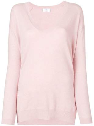 Allude U-neck sweater