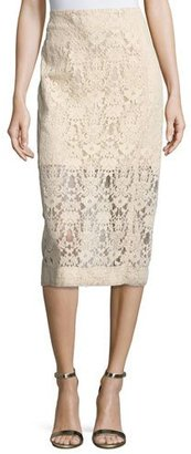 DKNY Floral Tulle Midi Skirt, Nude $498 thestylecure.com