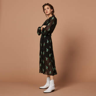 Sandro Long wrap dress
