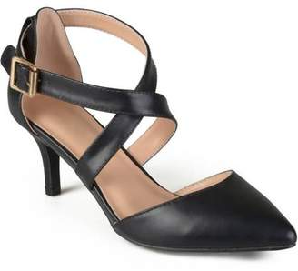 Brinley Co. Women's Matte Pointed Toe Ankle Strap Pumps