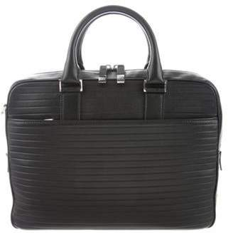 Christian Dior Black Tie Embossed Leather Briefcase w/ Tags black Black Tie Embossed Leather Briefcase w/ Tags