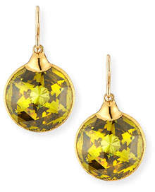 Devon Leigh Lucky Star Cubic Zirconia Drop Earrings, Green