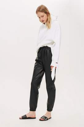 Topshop Leather Drawcord Joggers by Boutique