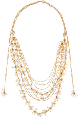 Lydell NYC Adjustable Multi-Strand Pearly Chain Necklace