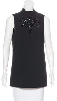 Trina Turk Embellished Sleeveless Top