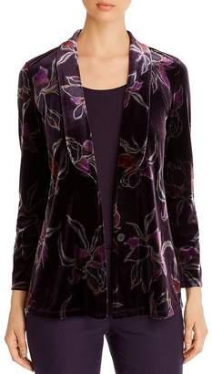 Nic+Zoe Floral-Print Velvet Jacket