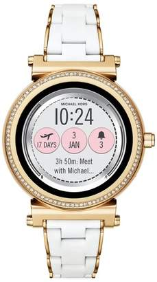 Michael Kors Sofie Touchscreen Silicone Bracelet Smart Watch, 42mm
