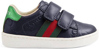 Toddler Gucci Signature sneaker with Web $295 thestylecure.com