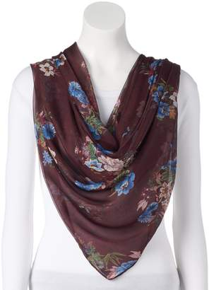 Apt. 9 Women's Floral Chiffon Square Scarf
