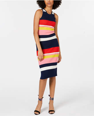 Trina Turk Colorblocked Merino Wool Sweater Dress