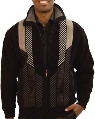 Steve Harvey Chenille Zip Front Lined Sweater Jacket Softshell Jacket