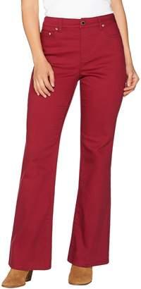 C. Wonder Petite 5-Pocket Flare Leg Jeans