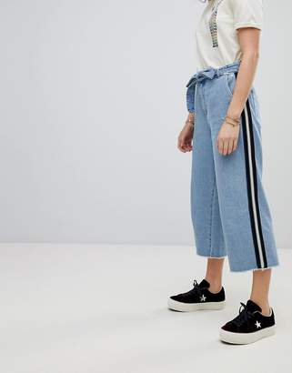 Maison Scotch Cropped Wide Leg Denim Pants