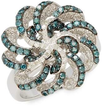 Effy Women's Blue Diamond & White Gold Ring