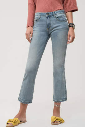 EVIDNT Light Wash Denim Cropped Jeans