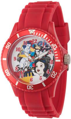 DISNEY PRINCESS Disney Princess Snow White Womens Red Strap Watch-Wds000211