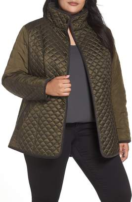 Gallery Quilted Contrast Sleeve Jacket