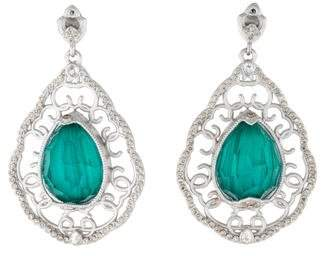 Armenta New World Malachite and Topaz Diamond Earrings