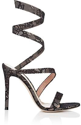 Gianvito Rossi Women's Opera Lace & Satin Sandals