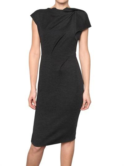 Roksanda Ilincic Draped Wool Jersey Dress