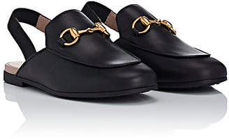 8db3bf1c7c75 Gucci Kids  Princetown Leather Slippers - Black