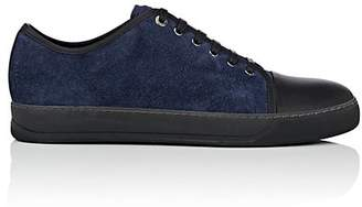 Lanvin Men's Cap-Toe Suede & Leather Sneakers