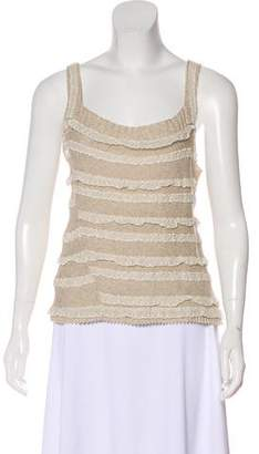 Gary Graham Lace-Accented Knit Top