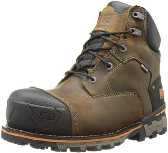 Timberland Men's 6 Inch Boondock Soft Toe WP Industrial Work Boot