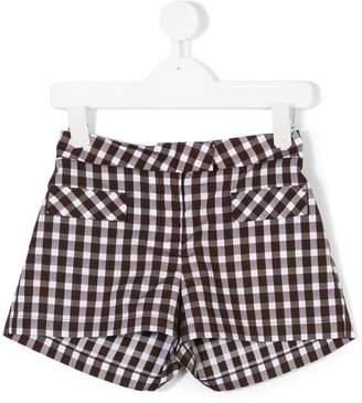 Dondup Kids gingham check shorts