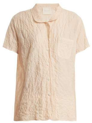 Camper Loup Charmant Short Sleeved Striped Cotton Shirt - Womens - Orange Stripe