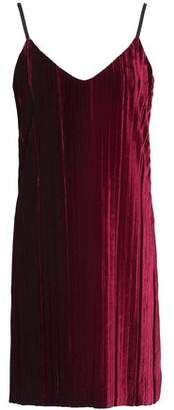 Tart Collections Oda Pleated Velvet Mini Dress