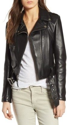 Women's Schott Nyc Perfecto Crop Leather Jacket $665 thestylecure.com