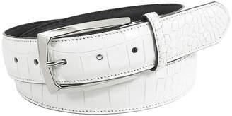 Stacy Adams Ozzie 34mm Croc Embossed Leather Belt