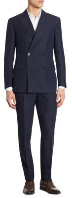 Polo Ralph Lauren Slim-Fit Double-Breasted Plaid Wool Suit $1,295 thestylecure.com