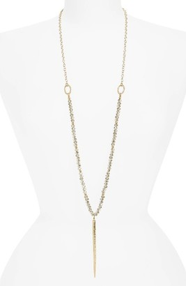 Women's Canvas Jewelry Crystal & Spike Necklace $32 thestylecure.com