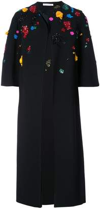 Oscar de la Renta sequin embellished coat