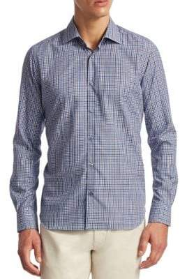 Saks Fifth Avenue COLLECTION Plaid Button-Down Shirt