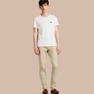 Burberry Slim Fit Cotton Poplin Chinos $250 thestylecure.com